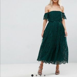 ASOS Petite Green lace dress